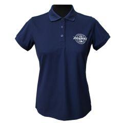 Blaues Piqué-Shirt für Damen