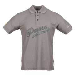 Men's grey pique shirt