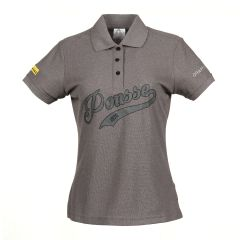 Women's grey pique shirt