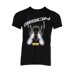 Schwarzes Bison-T-Shirt