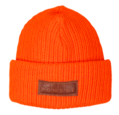 Orange knitted hat